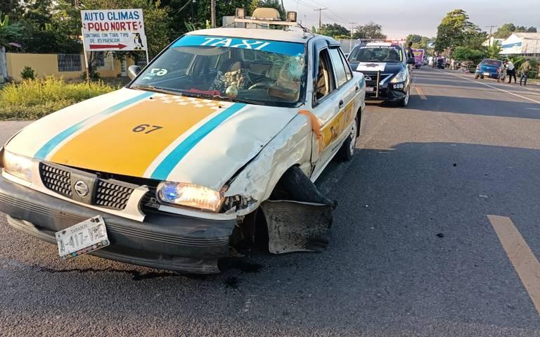 Muere motociclista al ser impactado por un taxi en Cárdenas