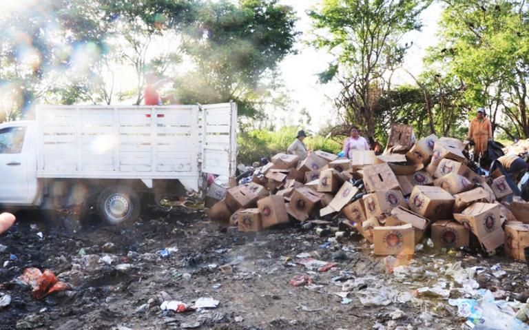 Destruyen 200 cartones de cerveza ilícita en Cunduacán