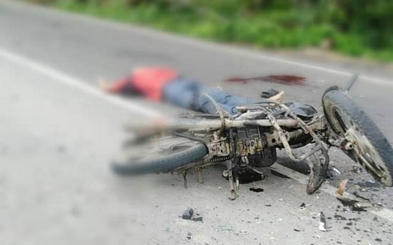 Encontronazo mortal de motociclistas en Cunduacán